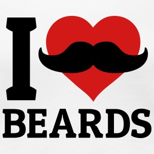 I love Beards Women's T-Shirts - Women's Premium T-Shirt