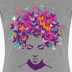 Woman Butterfly Women's T-Shirts