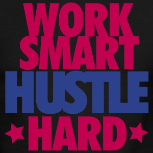 Work Smart Hustle Hard - Men's Ringer T-Shirt