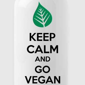 Keep Calm And Go Vegan Mugs & Drinkware - Water Bottle