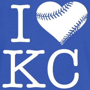 I Heart KC - Men's V-Neck T-Shirt by Canvas