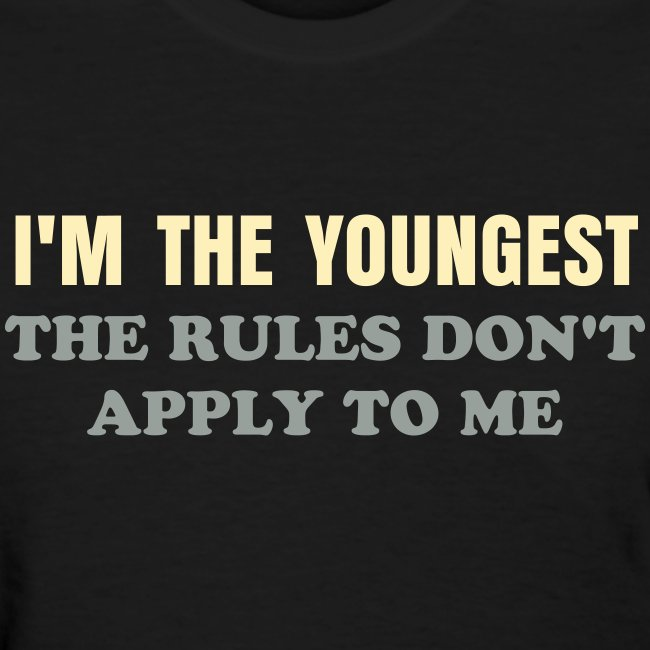 BEST SELLER- I'm the Youngest