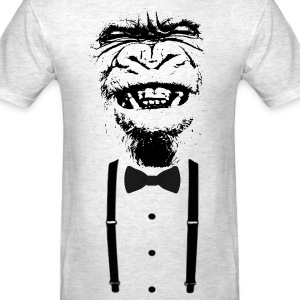 Gorilla with a bow tie  - Men's T-Shirt