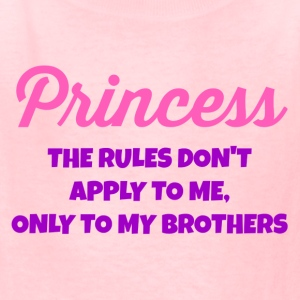 Princess- The Rules Don't Apply to Me - Kids' T-Shirt