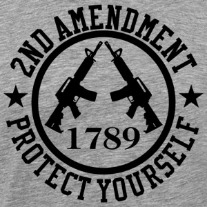 2nd Amendment Black AR-15 Protect Yourself T-Shirt - Men's Premium T-Shirt
