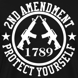 2nd Amendment White AR-15 Protect Yourself T-Shirt - Men's Premium T-Shirt
