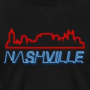 Nashville Tennessee Skyline Neon - Men's Premium T-Shirt