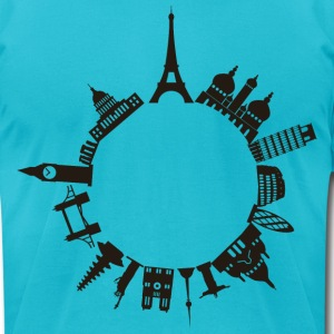 World Travels - Men's T-Shirt by American Apparel