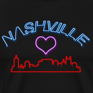 I Love Nashville Tennesse Neon Light - Men's Premium T-Shirt