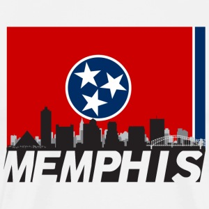 Memphis Tennessee Skyline Flag - Men's Premium T-Shirt