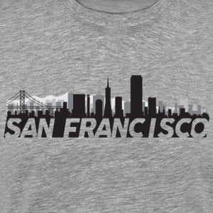 San Francisco California Skyline - Men's Premium T-Shirt
