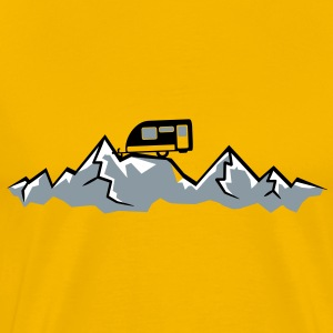 Alps mountains tent tents top mountains at T-Shirts - Men's Premium T-Shirt