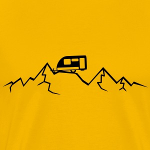 Mountains Alps Caravans above mountains at T-Shirts - Men's Premium T-Shirt