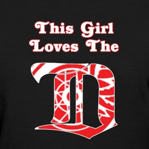 This Girl Loves the D - Black - Women's T-Shirt