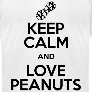 keep calm love peanuts T-Shirts - Men's T-Shirt by American Apparel