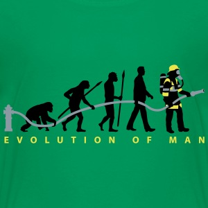 evolution of man firefighter Kids' Shirts - Kids' Premium T-Shirt