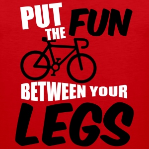 Put the fun between your legs Tank Tops - Men's Premium Tank