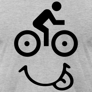 bike face T-Shirts - Men's T-Shirt by American Apparel