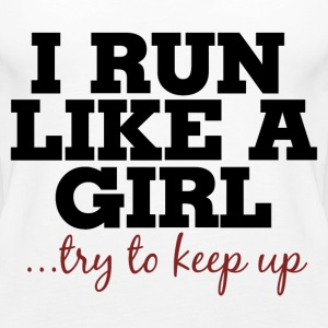 I run like a girl  - Women's Premium Tank Top