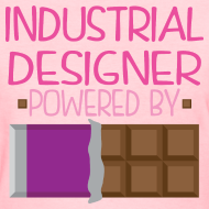 Design ~ Industrial Designer Womens T-shirt (Funny Chocolate)