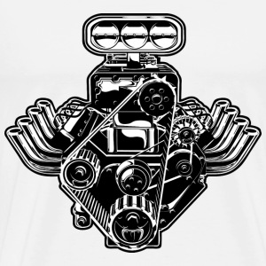 cool black car engine design - Men's Premium T-Shirt