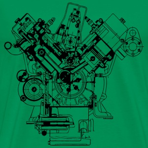 real car engine design - Men's Premium T-Shirt