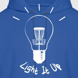 Light it up (white ink) Hoodies - Men's Hoodie