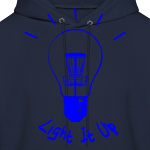 Light It Up (blue ink) Hoodies - Men's Hoodie