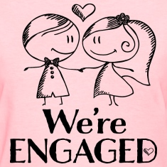 Engagement Announcement We're Engaged Women's T-Shirts