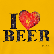Design ~ I Love Beer Distressed Men's Premium T-Shirt