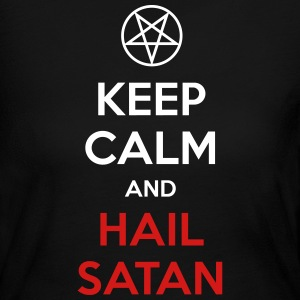 Keep Calm and Hail Satan Long Sleeve Shirts - Women's Long Sleeve Jersey T-Shirt