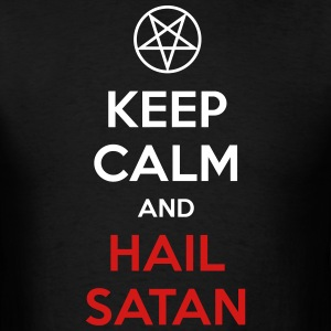 Keep Calm and Hail Satan T-Shirts - Men's T-Shirt