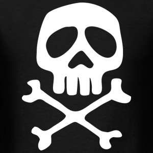 Skull of Space Pirate Captain Harlock's - Men's T-Shirt