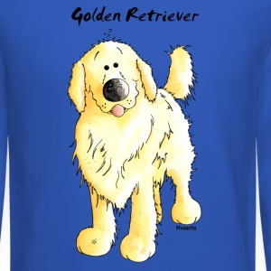 Cute Golden Retriever Long Sleeve Shirts - Crewneck Sweatshirt