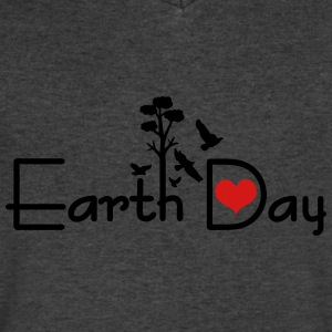 Earth day Men's V-Neck T-Shirt by Canvas - Men's V-Neck T-Shirt by Canvas