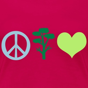save the tree peace Women's Premium T-Shirt - Women's Premium T-Shirt