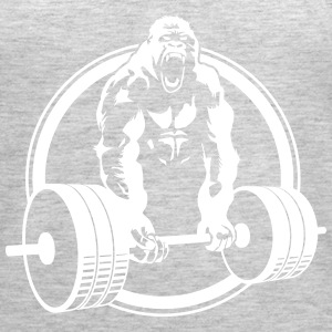 Weightlifting Fitness Crossfit Gorilla - Women's Premium Tank Top