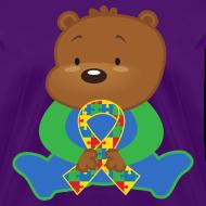 Design ~ Autism Puzzle Ribbon Womens T-shirt