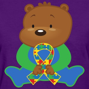 Autism Awareness Ribbon bear Women's T-Shirts - Women's T-Shirt
