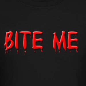 Bite Me In Blood Long Sleeve Shirt - Crewneck Sweatshirt