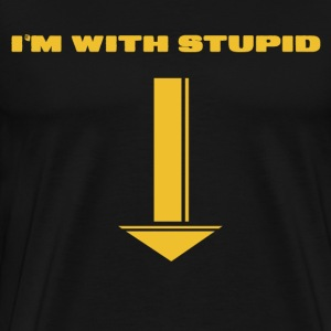 I'M WITH STUPID - Men's Premium T-Shirt