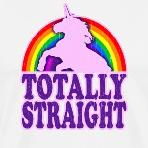 Funny - Totally Straight (vintage distressed look) - Men's Premium T-Shirt