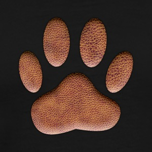 Leather Dog Paw Print - Men's Premium T-Shirt