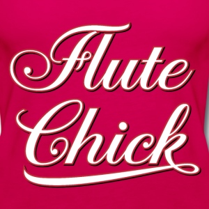 White Flute Chick Script  Tanks - Women's Premium Tank Top