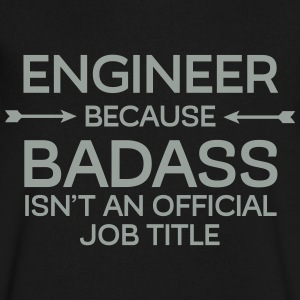 Engineer - Badass T-Shirts - Men's V-Neck T-Shirt by Canvas