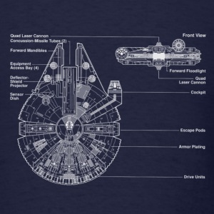 falcon schematic - Men's T-Shirt
