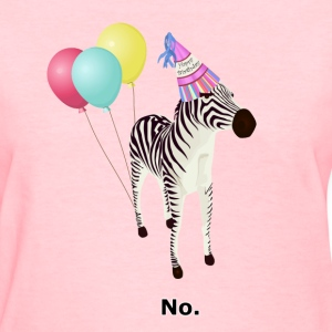 Annoyed Birthday Zebra
