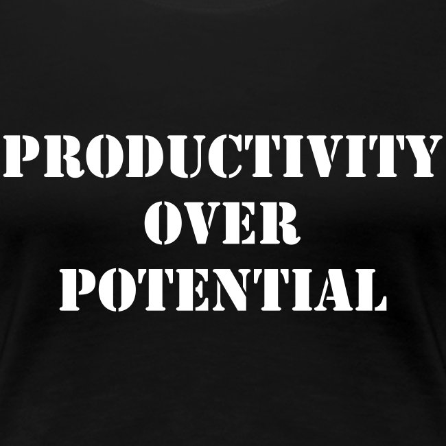 PRODUCTIVITY OVER POTENTIAL