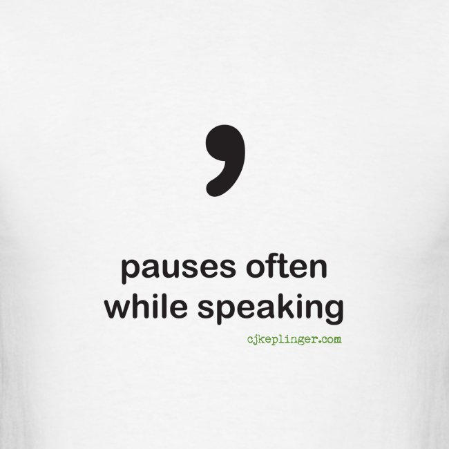 Punctuation Personality: Comma Tee