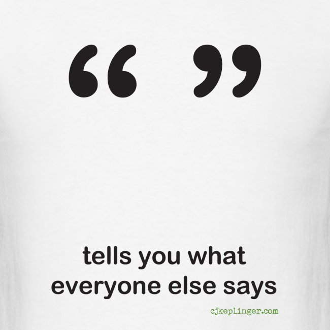 Punctuation Personality: Quotes Tee